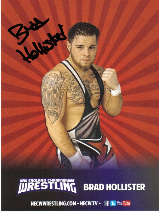 Brad Hollister.  Image by: NECW.  From The Professor's Private Collection