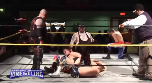 Two Great Teams Get the Snot Beaten out of them.  Image: NECW