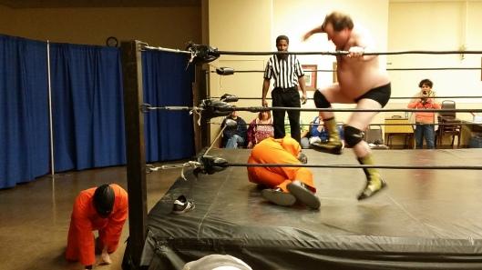 Gary Fights Back. Image: The Wrestlng Professor
