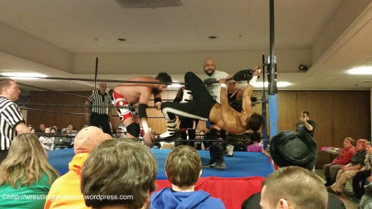 Griffin & Triplelicious Push Casanova.  Image © The Wrestling Professor