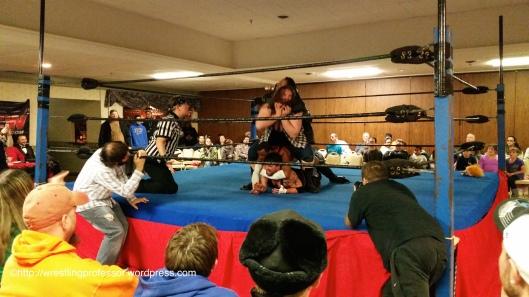 Four Man Choke Hold. Image © The Wrestling Professor