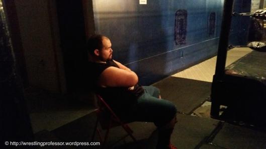 Minding His Stooge. Image © The Wrestling Professor
