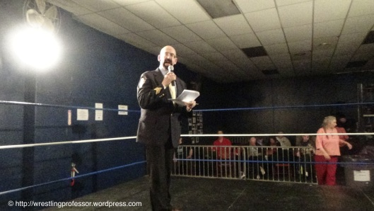 Ring Announcer and WWF Veteran Sgt. Muldoon.  Image: The Professor