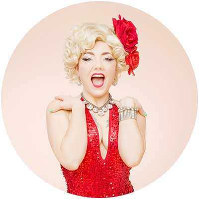 The Island Flower Ruby Mimosa. Our favorite burlesque star. Member of The Atomic Bombshells. Image: Ruby Mimosa
