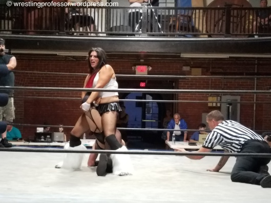 Nikki Inflicts Damage. Image: The Wrestling Professor
