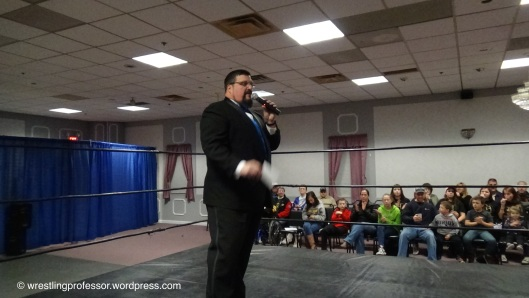 The Dean of New England Ring Announcers, Rich Palladino. Image: The Wrestling Professor