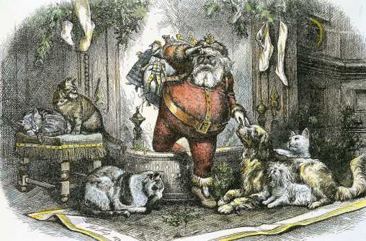 The Coming of Santa Claus by Thomas Nast 1872